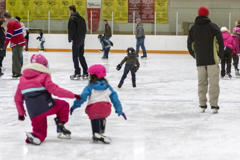 Public skating at the Wainfleet Arena